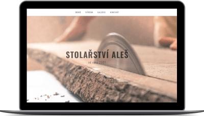 Webové stránky stolařství Aleš