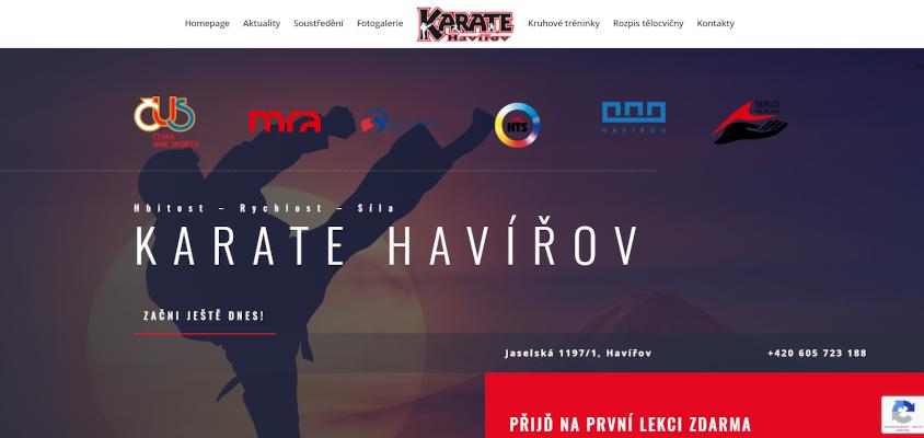 Oddíl Karate v Havířově
